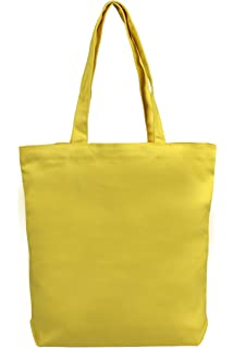 Amazon.com: Yellow Canvas Tote Bag (1 Dozen) - BULK: Kitchen & Dining