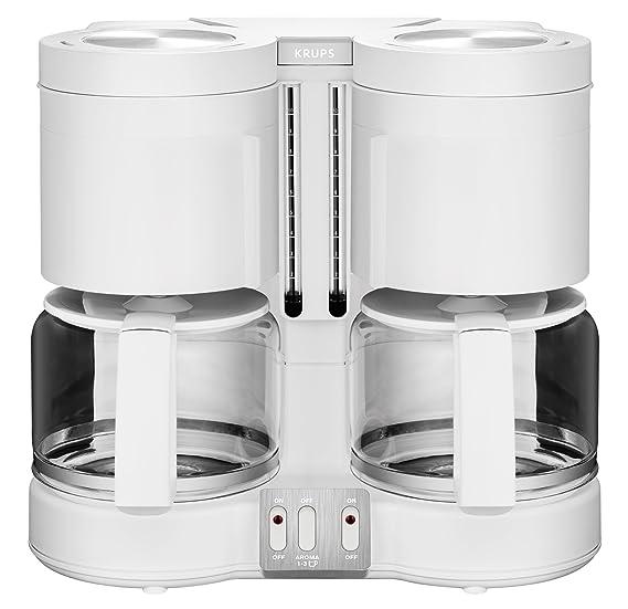 Krups KM8508 DuothekPlus Schwarz Kombi-Kaffee-//Teemaschine zwei Glaskannen
