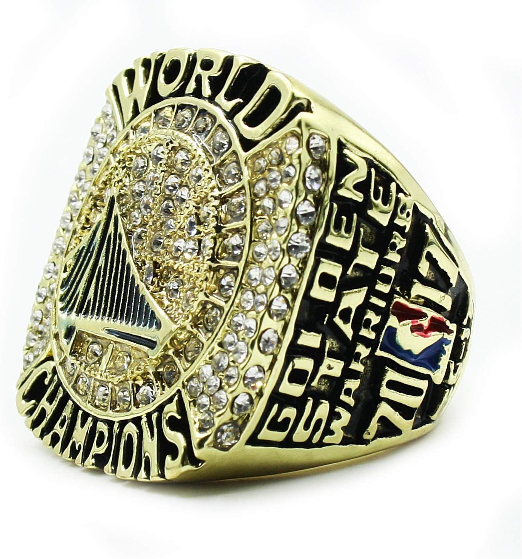 WSTYY NBA 2017 Warriors Durant Championship Ring Anillos de Hombre, Championship Anillo de réplica Personalizado Anillos de Diamantes para Hombres,Without Box,10