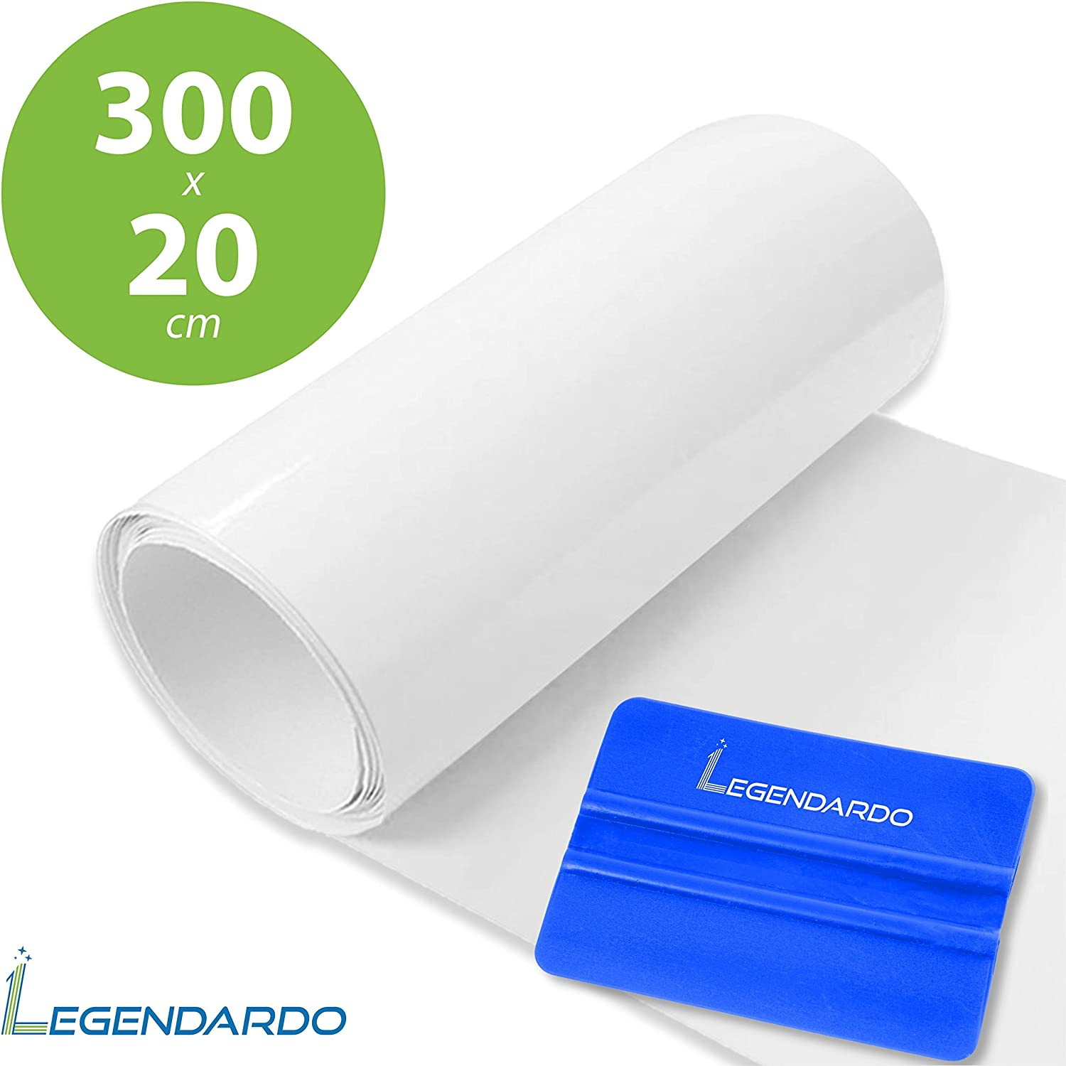 Legendardo Paint Protection Film Use As Car Film Bicycle Film Motorcycle Film As Stone Guard Protection Bumper Protection Frame Protection Self Adhesive Transparent Protective Film 20 X 300 Cm Auto