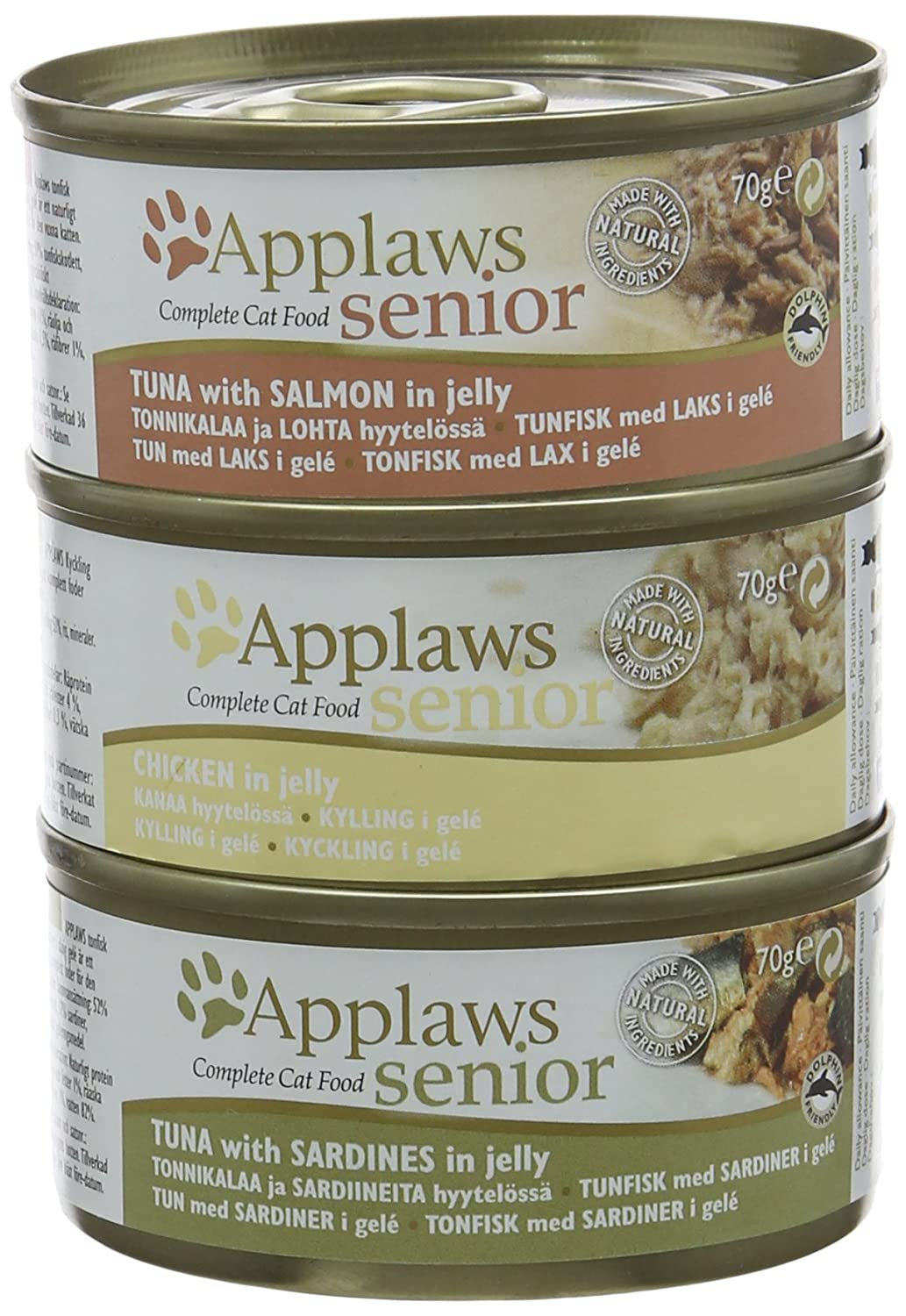 Applaws Multipack Tin for Senior Cat 6 x 70 Grams MPM Products Ltd