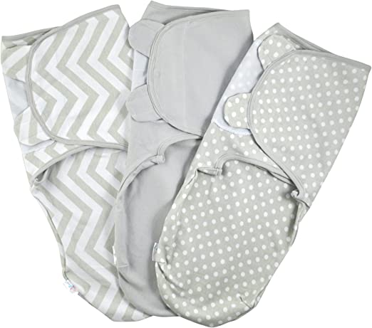 100/% Cotton 220 GSM Baby Swaddle Wrap Pack of 3 Swaddle Blankets -1.0 TOG Green Small: 0-3 Months