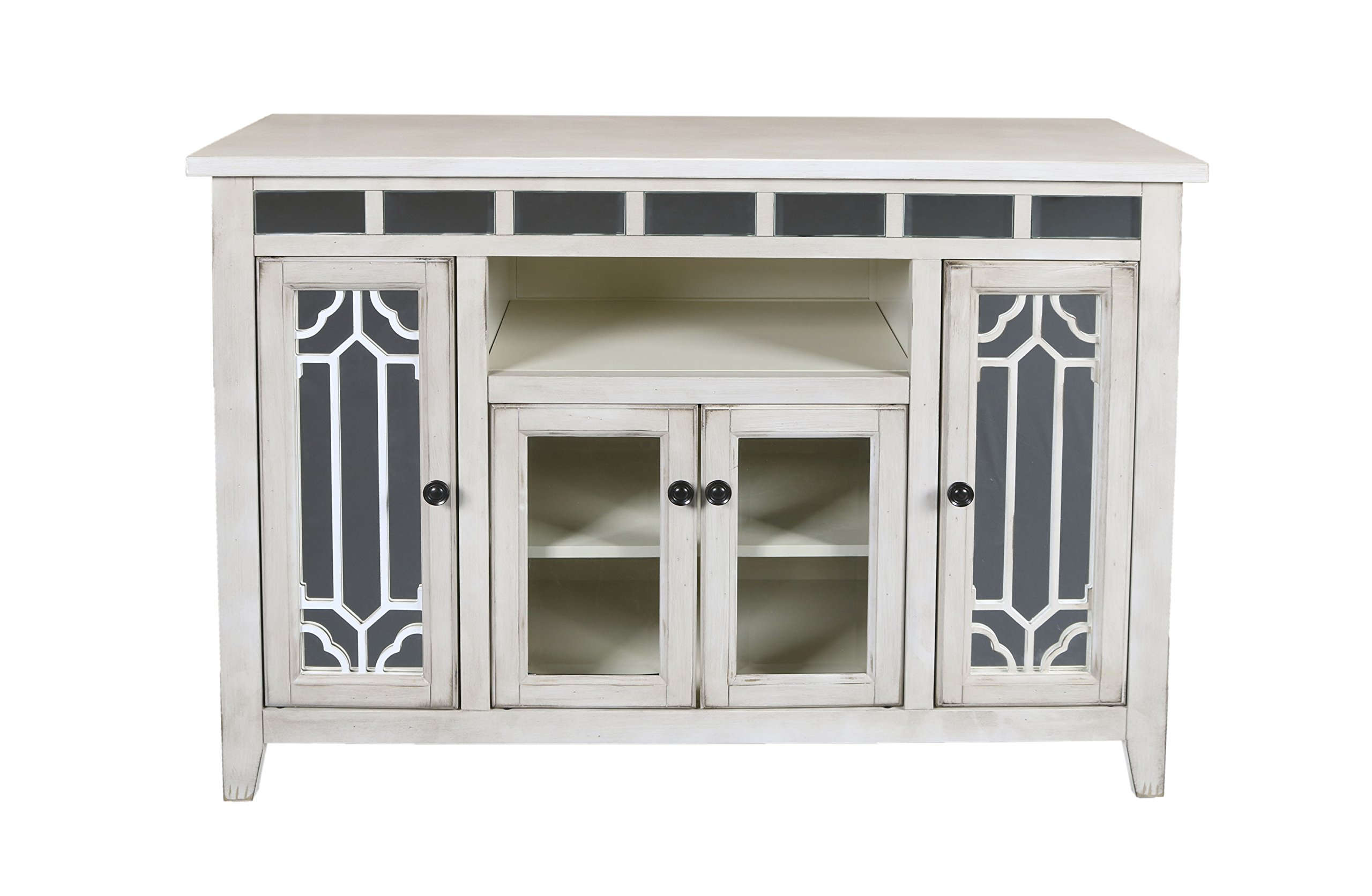New Classic Furniture T1017-48-CRM Gable Entertainment Unit, 48-Inch, Creme, Crème by New Classic Furniture