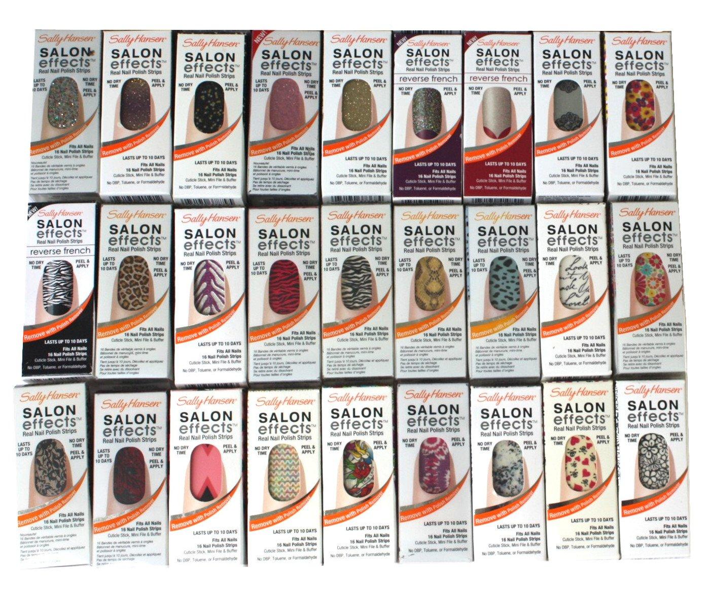 Amazon.com : Lot of 10 Sally Hansen Salon Effect Real Nail Polish ...