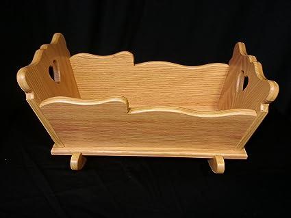 Tremendous Amazon Com Sm Doll Cradle Solid Oak Furniture House Amish Inzonedesignstudio Interior Chair Design Inzonedesignstudiocom
