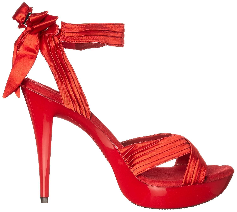 Fabulicious Women's Cocktail 568 Platform Sandal B00FB4D37M 10 B(M) US|Red