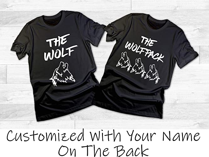 df450f3bbc4ce The Wolfpack Shirts, Bachelor Birthday Party Shirts, Custom Men's ...