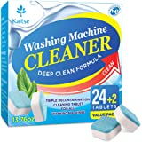 Kaitse Washing Machine Cleaner Effervescent Tablets, Solid Washer Deep Cleaning Tablet, with Natural Formula, for Front and T