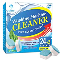 Kaitse Washing Machine Cleaner Effervescent Tablets, Solid Washer Deep Cleaning...