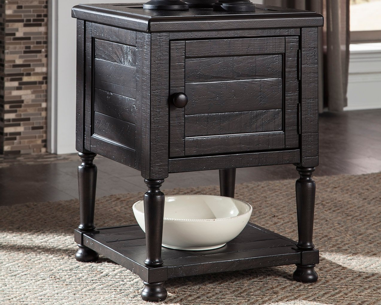 Ashley Furniture Signature Design Charcoal T835-1 Sharlowe Casual Rectangular Cocktail Table with Drawer Storage