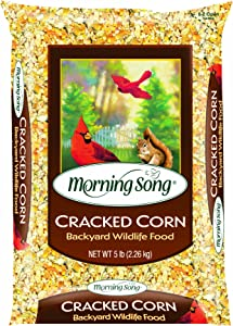 Morning Song 11973 Cracked Corn Wildlife Food, 5-Pound