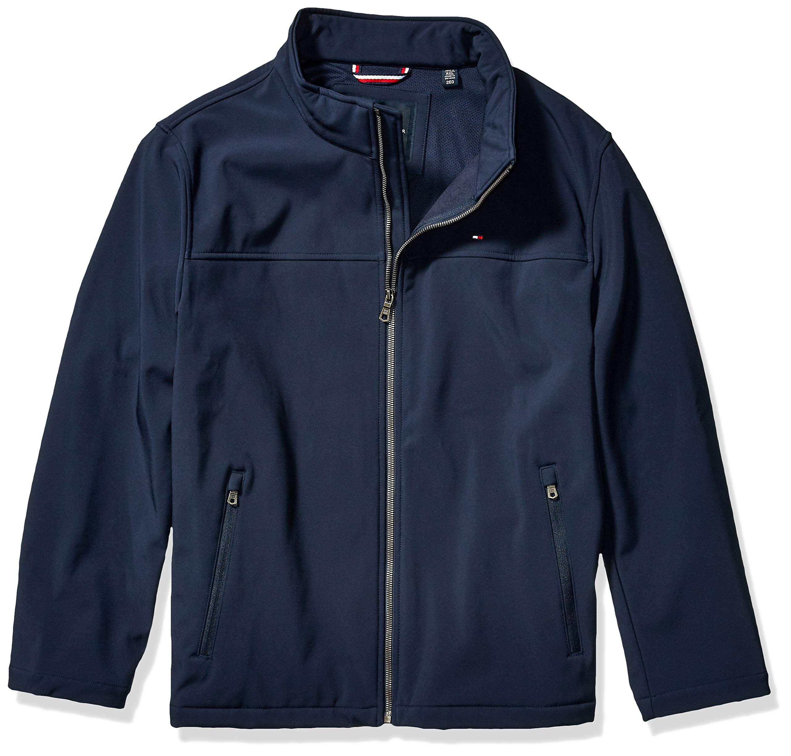 Tommy Hilfiger Men's Big Classic Soft Shell Jacket (Regular & Big-Tall Sizes), Midnight, 3XT