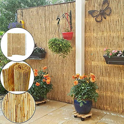 Recinzioni Per Giardino In Legno.Abaseen Recinzione Per Giardino In Legno Naturale Amazon It