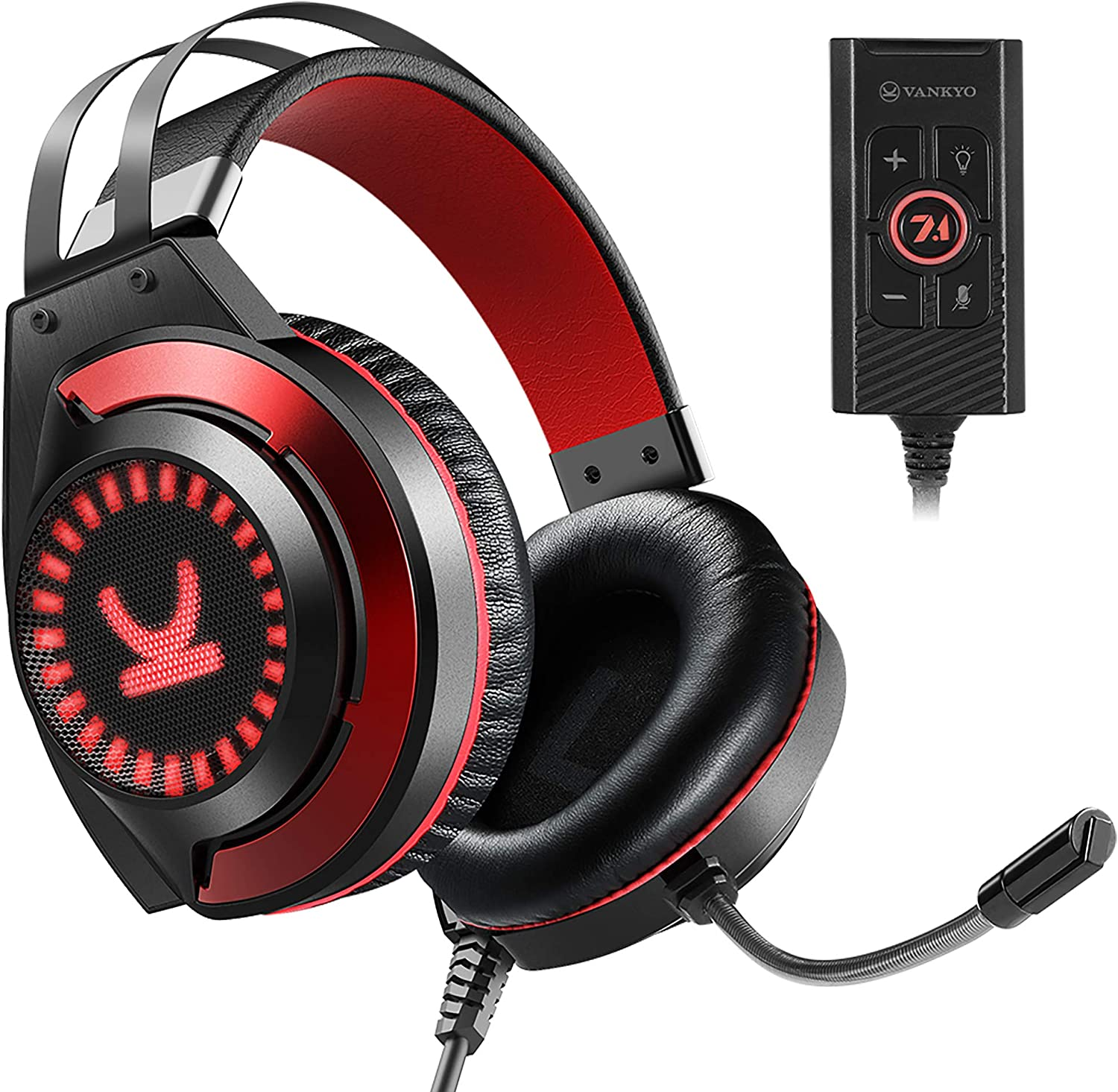 VANKYO Gaming Headset CM7000 with Authentic 7.1 Surround Sound Stereo PS4 Xbox One Headset, Gaming Headphones with Noise Canceling Mic & Memory Foam Ear Pads for PC, PS4, Xbox One, Nintendo Switch