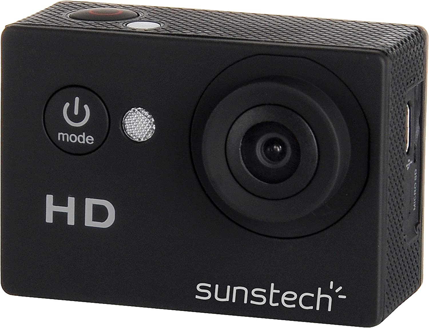 Sunstech ACTIONCAM5BK - Cámara deportiva (5 MP, pantalla de 2