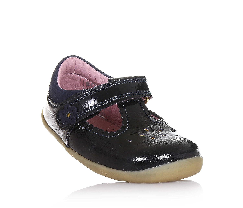 BOBUX - Chaussure bleu nuit en cuir brillant, modèle Step up, idéale pour les premiers pas, Bébé, filles