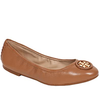 Tory Burch Allie Shoes Flats Ballet Leather Logo (6.5 B(M) US,