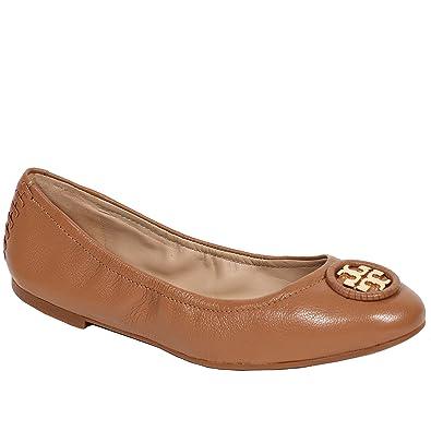 Tory Burch Allie Shoes Flats Ballet Leather Logo (6.5 B(M) US,