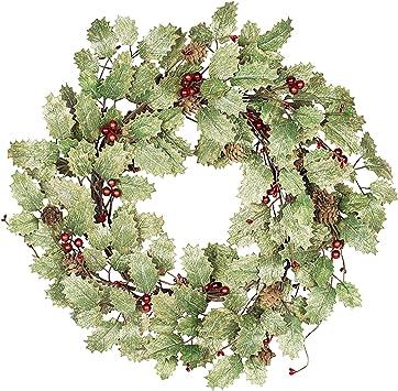 Skrantun 20 Inch Christmas Wreath for Front Door Christmas Decorations