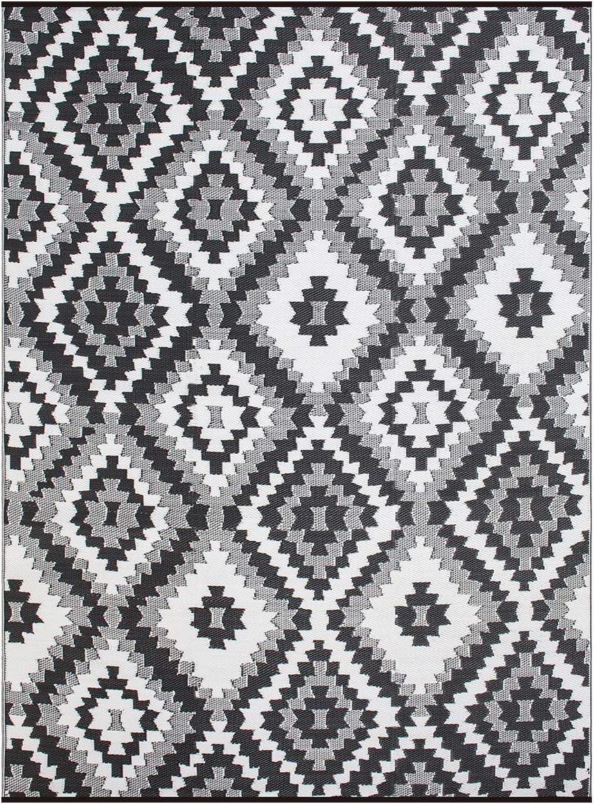 SMM013 Reversible Indoor Outdoor Rugs- Grey,8×10