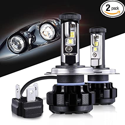 LED Headlight Bulbs H4 CREE Chips All-in-One Conversion Kit,12000 Lumen