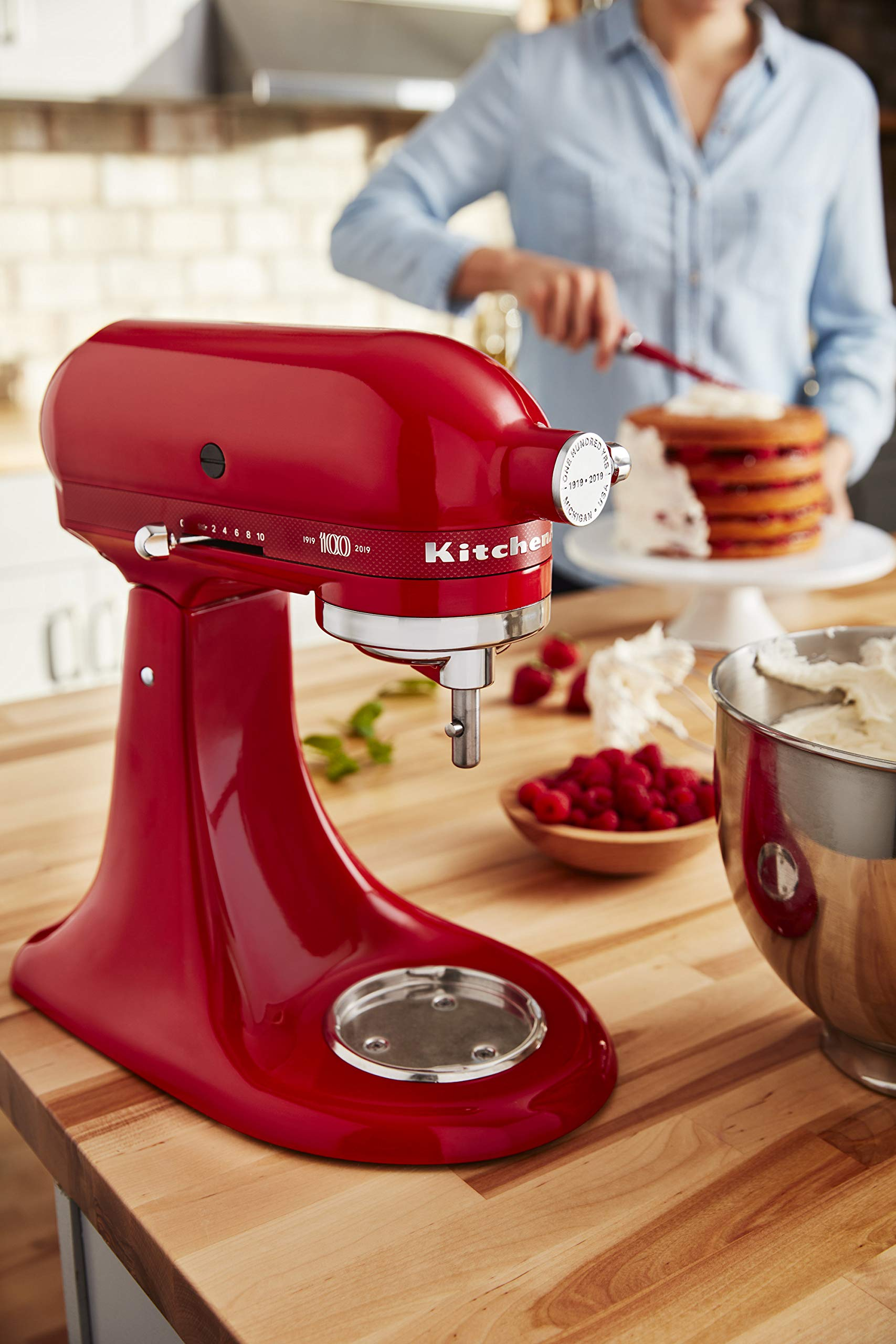 KitchenAid KSM180QHSD 100 Year Limited Edition Queen of Hearts Stand Mixer, Passion Red by KitchenAid (Image #7)