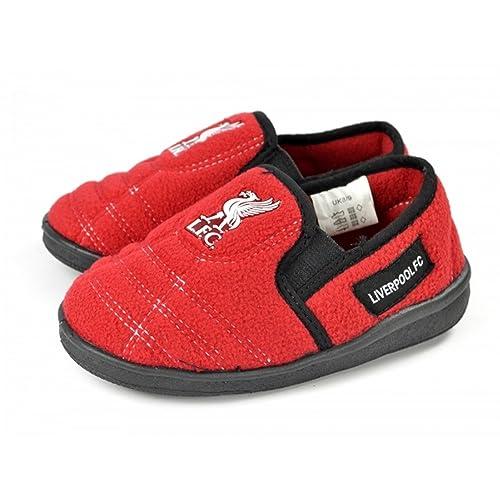 Liverpool FC - Zapatillas de estar por casa oficiales de Liverpool FC para niños (28/30 EU/Rojo): Amazon.es: Zapatos y complementos