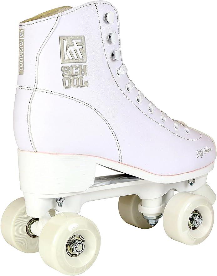 UK 3//EU 36 White KRF The New Urban Concept Kids School PPH Junior Quad Roller Skates