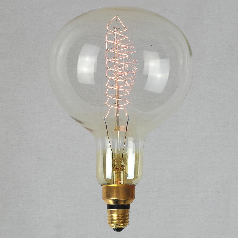 Giant Light Bulb Lamp Vintage Edison Light Bulb 60w Xxl Giant Globe Spiral 16x24cm E27