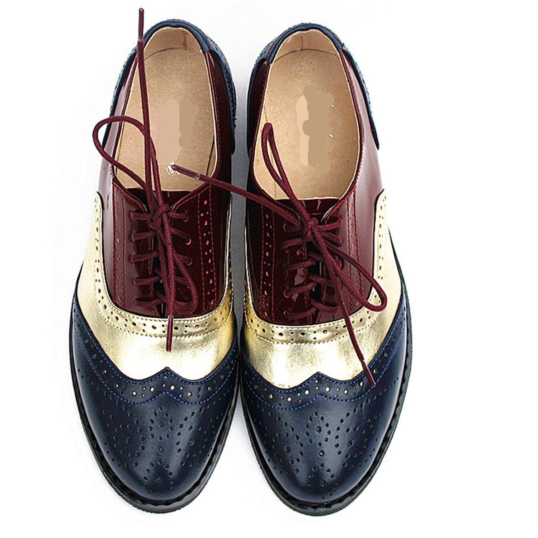 Amazon.com | Frozac Mujeres de Cuero genuino Zapatos Oxford ...