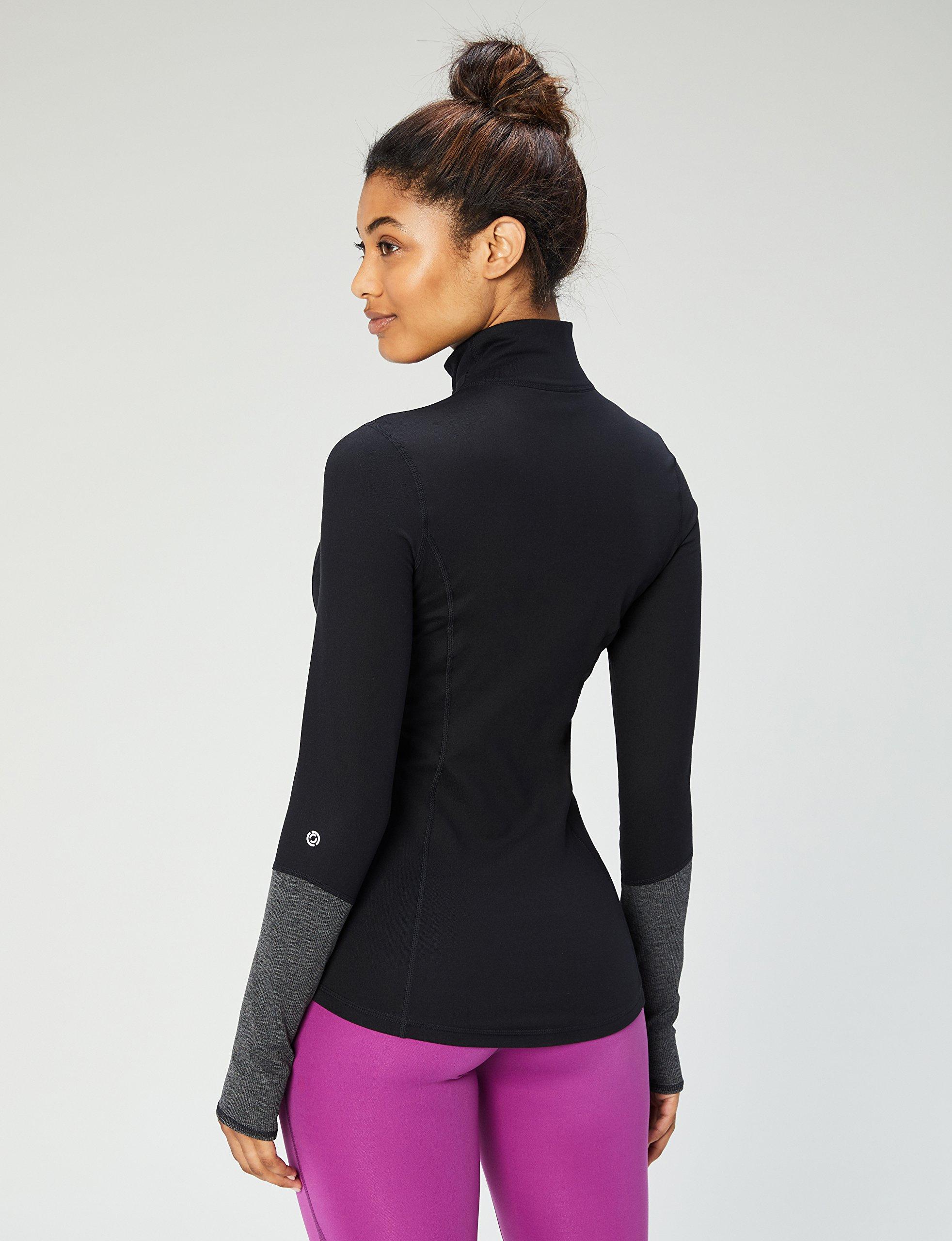 Core 10 Women's Icon Series - The Ballerina Full-Zip Jacket, Black, Medium by Core 10 (Image #3)