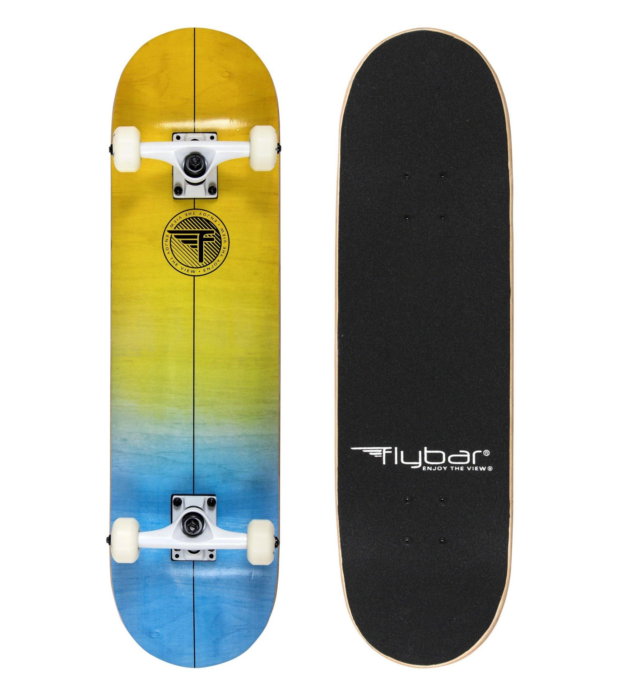 Flybar Complete Skateboards 31'' x 8'' 7 Ply Maple Wood Board (Old School 2)