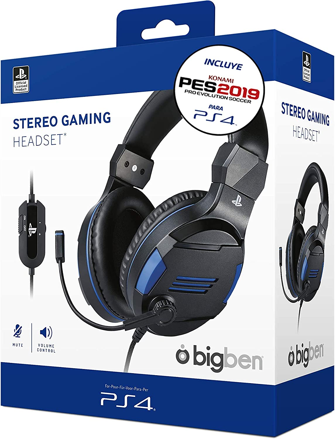 Sony Oficial - Auriculares Gaming Stereo, color negro + PES 2019 ...