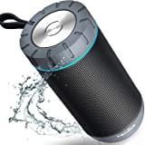COMISO Waterproof Bluetooth Speakers Outdoor Wireless Portable Speaker with 20 Hours Playtime Superior Sound for Camping, Bea