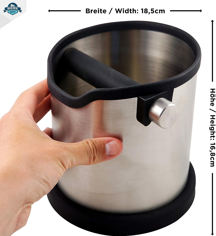 Poubelle de table /à caf/é//Pot pour r/écup/érer le marc de caf/é,Knock Box Version am/élior/ée Barista accessoires pour machines /à espresso,R/écipient de r/écup/érati Bac a marc de cafe