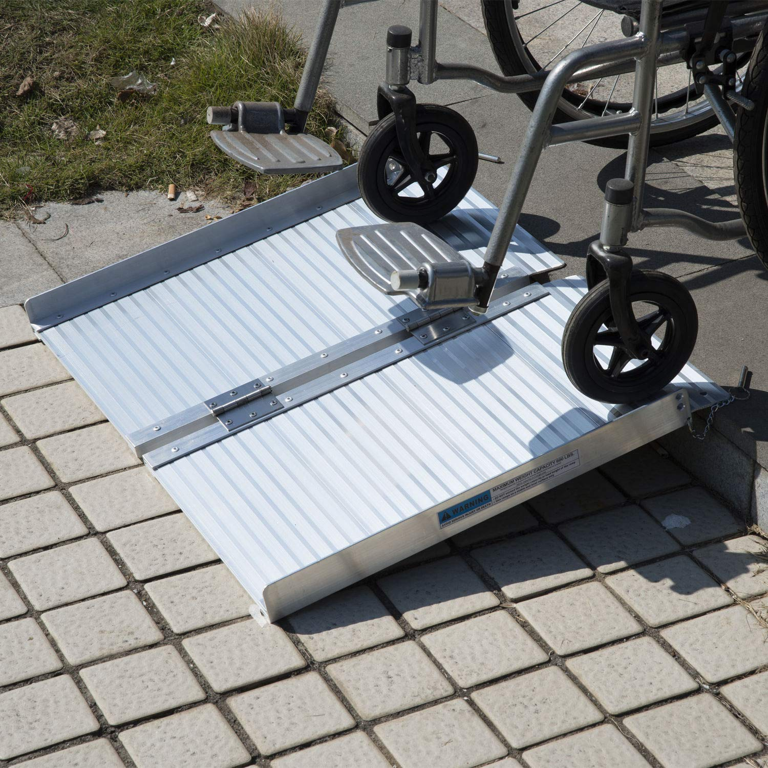Access Ramps Portable Mobility Loading Wheelchair Threshold Ramp Handicap Folding by Caraya