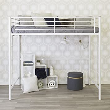 white metal furniture. we furniture full metal loft bed white