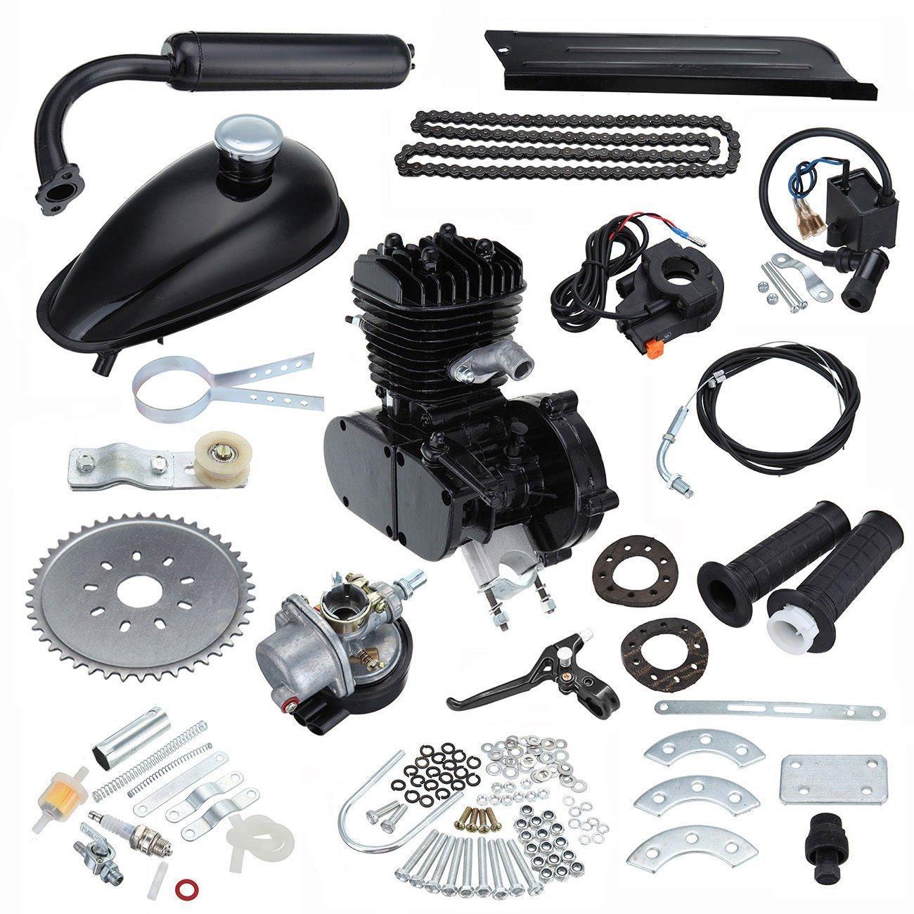 Ridgeyard 50cc 2 Stroke Gas Engine Bicycle Bike Motor Kit Motorized Kit DIY Black Ridgeyard Co .ltd