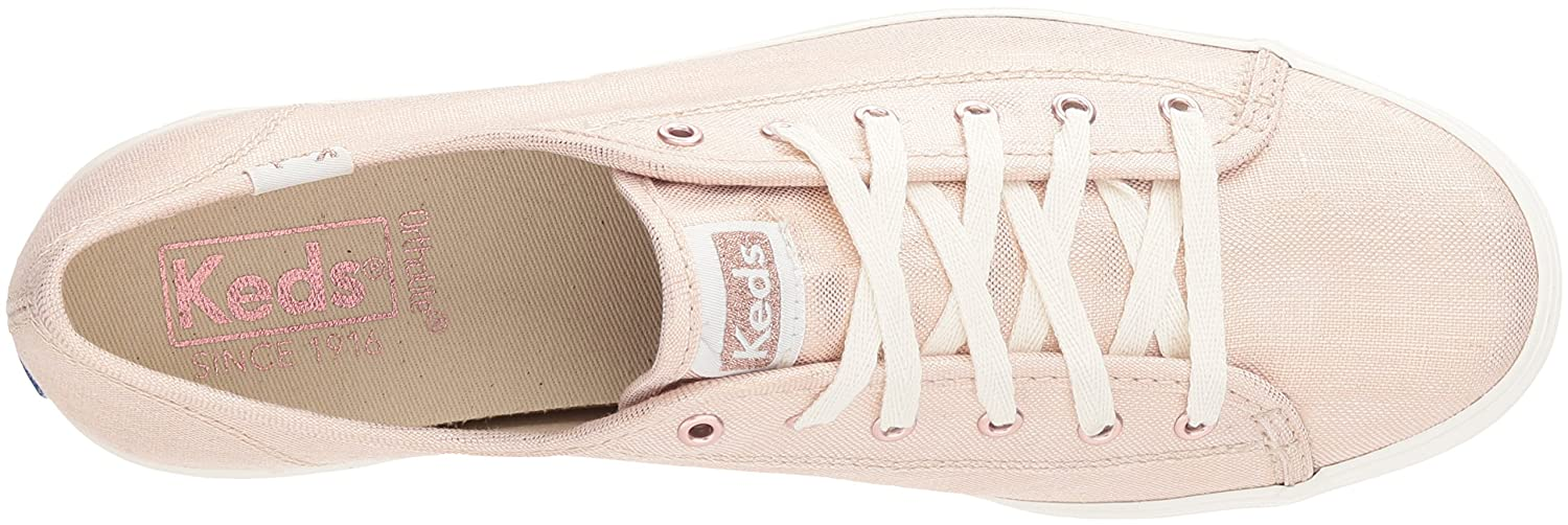 Keds Women's Triple Kick Metallic Linen Sneakers WF58063
