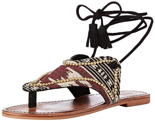 47eb80e0 Cortefiel Sandalia Jacquard - Sandalias para Mujer, Multicolor, Talla 36:  Amazon.es: Ropa y accesorios