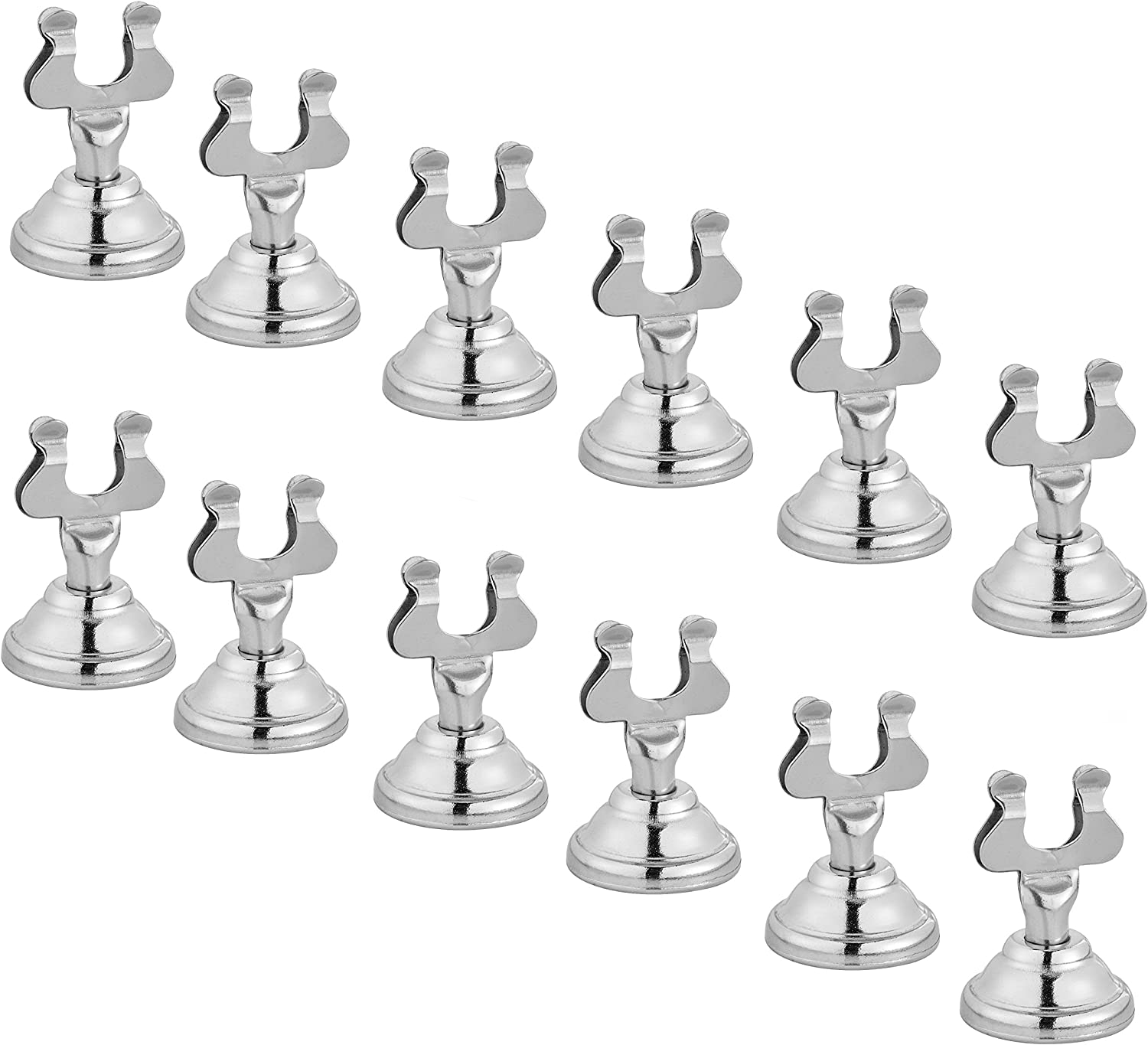 Alpine Industries Harp Style Place Card/Table Number Holder - Silver (12 Pack)