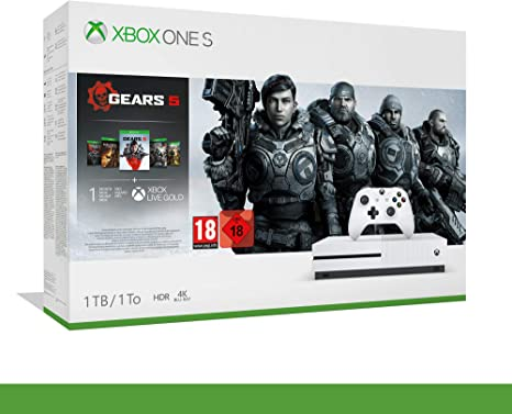 Xbox One S - 1TB Bundle Gears of War 5 - Inclusi Gears of War 2, 3, 4 + 14 Days Live Gold + 1 m Gamepass - Bundle - Xbox One [Importación italiana]: Amazon.es: Videojuegos