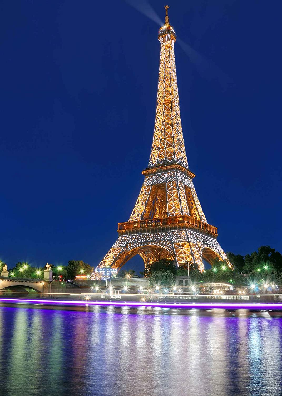 Mme 5x7ft Romantic Paris Eiffel Tower Beautiful Night Amazon Co Uk Camera Photo