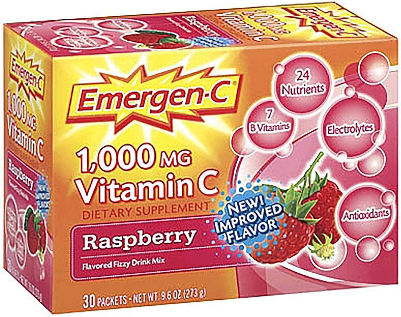 Alacer Emergen-C 1000 MG Vitamin C - Raspberry