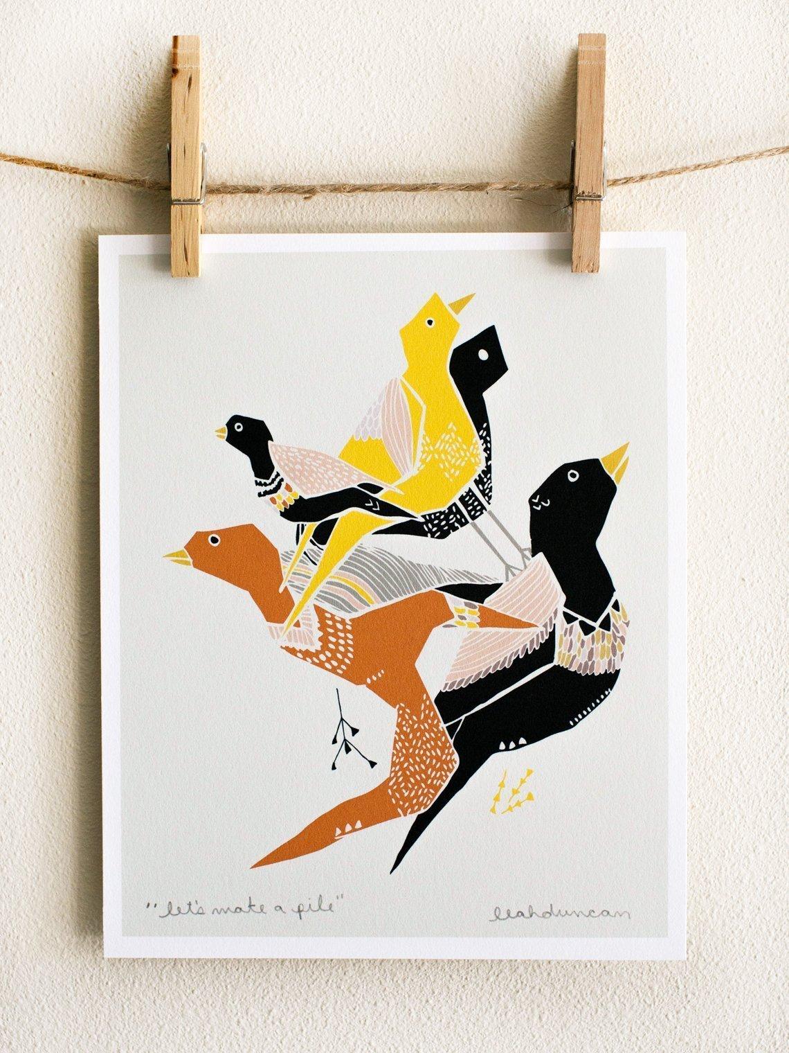 Let's Make a Pile Art Print