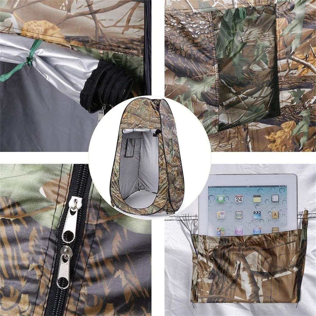 Au/ßen Umzug Dusche Toilette Tent Privatsph/äre /ändern Bad Shelter Anproberaum Wasserdicht Pop Up 180T-Zelt mit Tasche Camouflage Ahornbl/ätter Tarnung