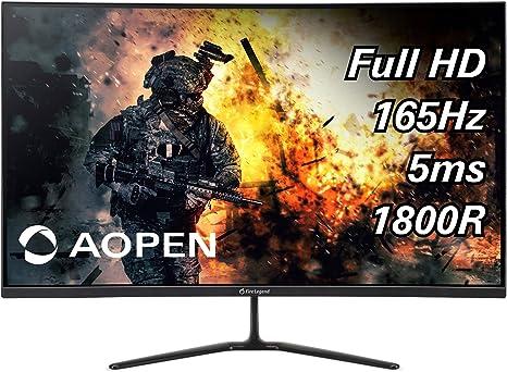 ACER Aopen 32HC5QRP 1800R - Pantalla Curva y TFT (80 cm, 31,5 Pulgadas, 16:9, FHD, 165 Hz, 5 ms, 300 CD/m2, 2 Puertos HDMI): Amazon.es: Informática