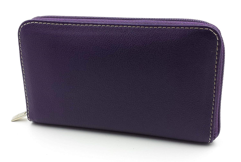 FJR-ArtPiel - Cartera para mujer con billetera, tarjetero y ...