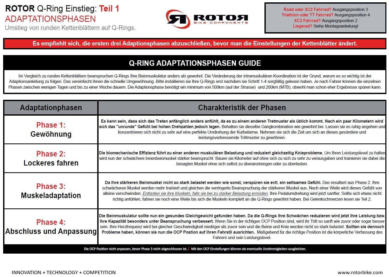 rotor Q-Ring Road Aero Chainring 130mm 5-Arm outside black 2018 ...