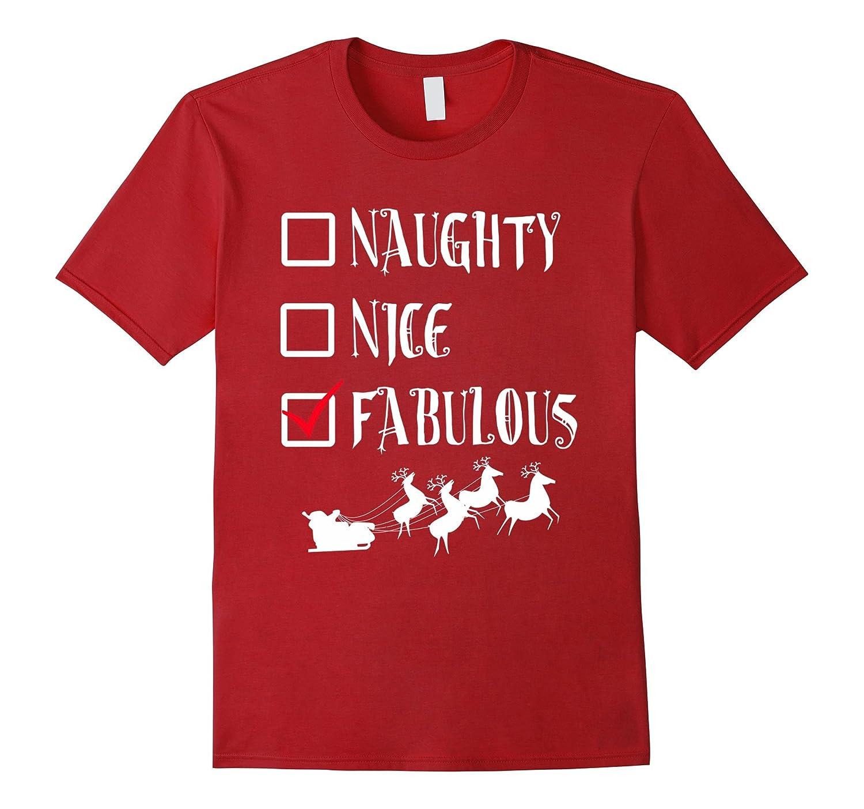 CHRISTMAS T SHIRT Naughty FABULOUS Holiday-Samdetee
